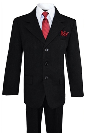 AA888BK: Dapper Boys Pinstripe Suit with Matching Tie