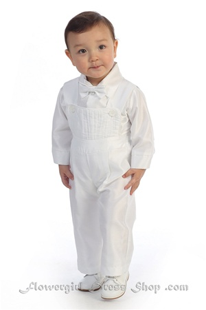 Christening Gown #AG262 : Adorable shantung poly romper vest set.