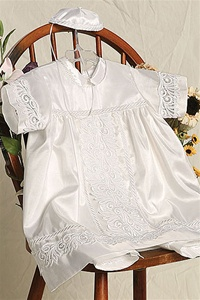 Christening Gown #AG274 : Handsome Taffeta 3-Pc Pants Set