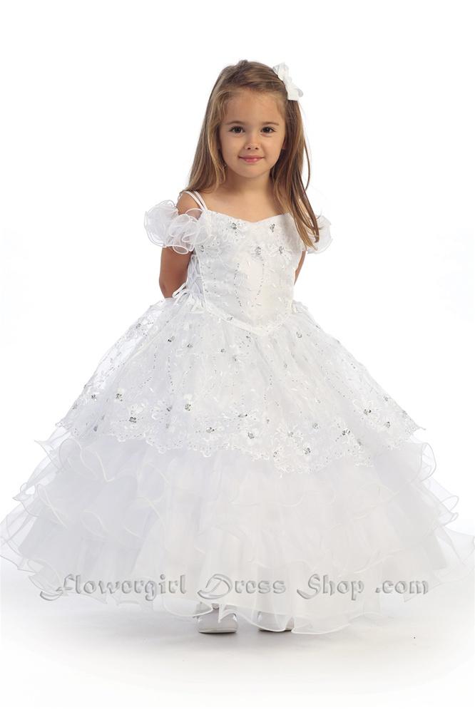 8b55191d46e Flower Girl Dresses  AG632W   Stunning Off-The-Shoulder Dress W ...