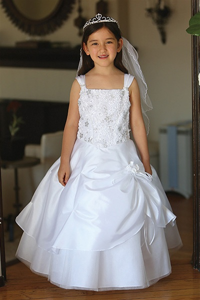 Flower girl dresses ag643 beautiful taffeta dress embellished flower girl dresses ag643 beautiful taffeta dress embellished bodice w flower pattern sequins glittered tulle underlay mightylinksfo