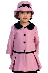 #AG716P : Fur Collar Coat with Princess Seams, Inverted Pleats