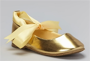 #BS004 gold : Ballerina Shoes / Ribbon Tie