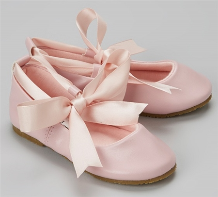 #BS004 pink : Ballerina Shoes / Ribbon Tie