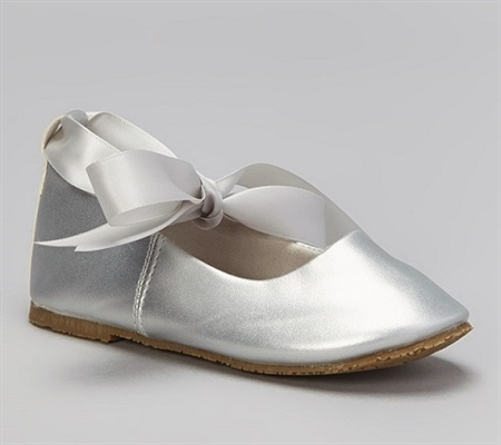 #BS004 silver : Ballerina Shoes / Ribbon Tie