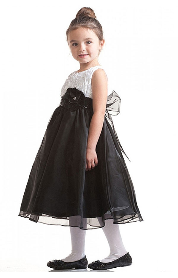 White and black sweet soutache pattern bodice dress flower girl dresses c868bkw whiteblack and blackblack sweet soutache pattern mightylinksfo