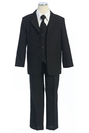 # CA5008B : Boys 5 Pcs Pin Stripe Formal Suit .