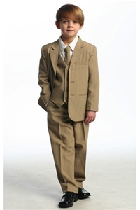 # CA5008T : Boys 5 Pcs Pin Stripe Formal Suit .