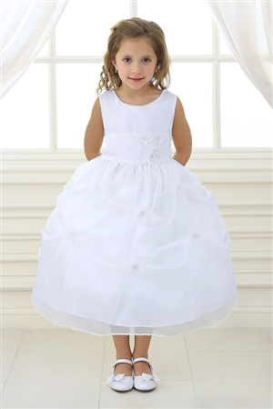 Flower Girl Dresses #CA513W : Organza Pick-up Dress with Changeable Color Flowers