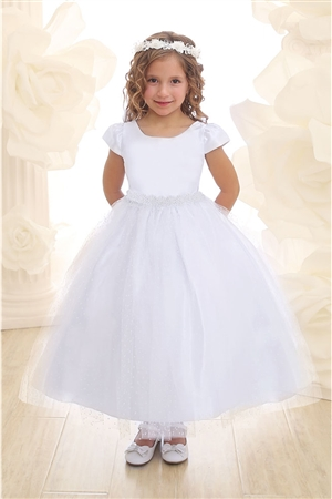 Flower Girl Dresses #CA559 : Elegant Cap Sleeve Tulle Dress