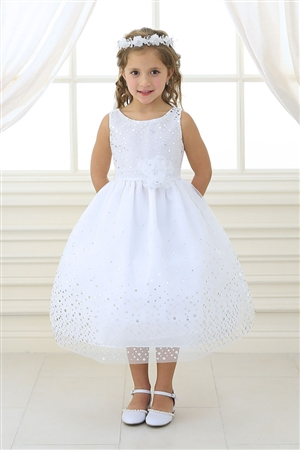 Flower Girl Dresses #CA751 : Organza Scattered Sparkle