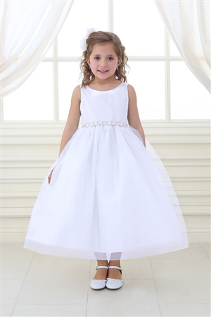 Flower Girl Dresses #CA754 : RHINESTONE WAISTBAND TULLE DRESS