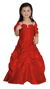 Flower Girl Dresses #CD1026RD : Spaghetti Strap Long Pick-Up Dress