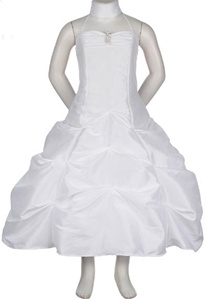 Flower Girl Dresses #CD1026WH : Spaghetti Strap Long Pick-Up Dress
