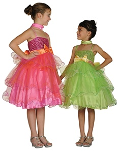 Flower Girl Dresses # CD1119L : Triple Layered Tulle Dress