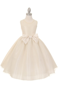 Elegant yet Simple Polkadot Gown with Bow (#CD1210)