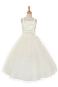 Cute Crinkle Taffeta Gown with Corsage (#CD4001)