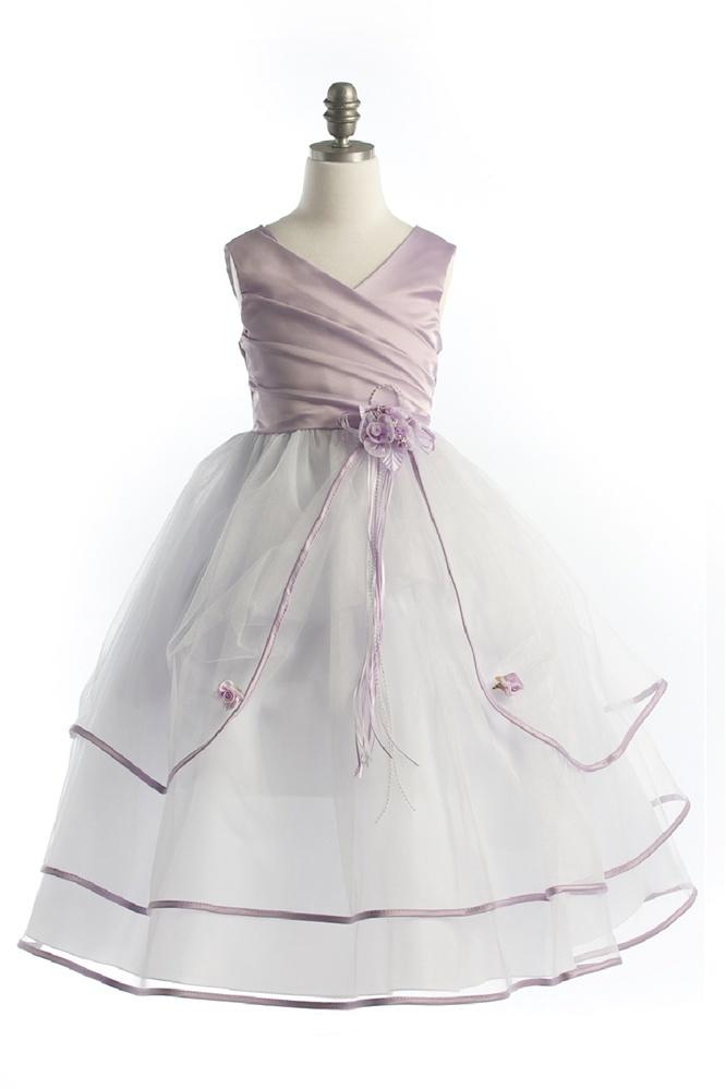 Gray Flower Girl Dress