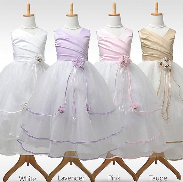 Triple Flowers Tulle Dress
