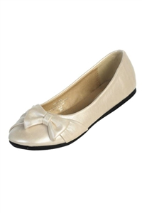 #June : Girl's flat shoes with bow on the side