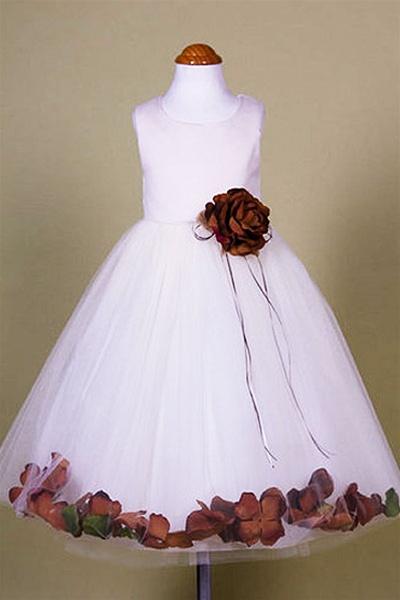 0a93b260e0a Flower Girl Dresses  KD160BB   Dupioni Silk or Satin Bodice Petal Flower  Girl Dress