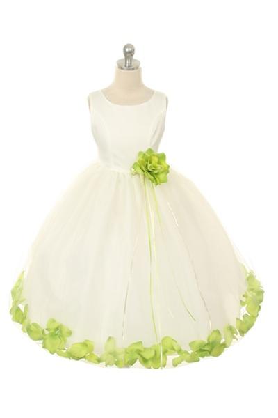 Flower girl dresses flower girl dress flowergirldressshop flower girl dresses kd160bg dupioni silk or satin bodice petal flower girl dress mightylinksfo