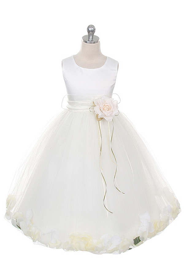 406ece9ae0 ... Flower Petal Dress with Organza Sash Larger Photo .