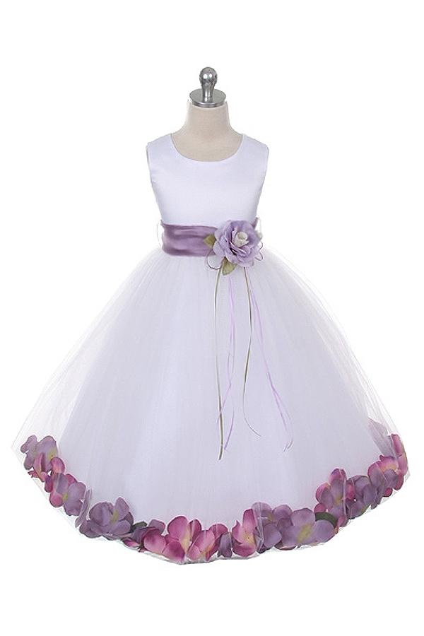 5cb289ce5e Flower Girl Dresses  KD160S-WLA  Flower Petal Dress with Organza Sash