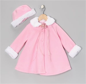 #KD166NP : Fleece Cape Baby Coat
