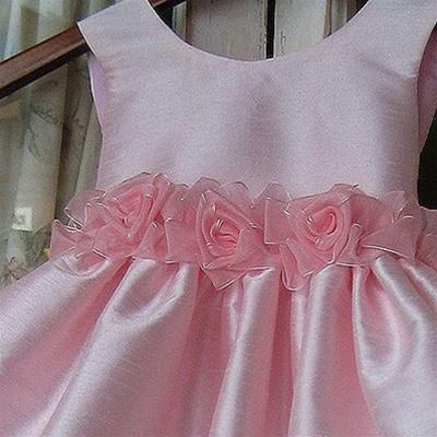 Красивый пояс на детское платье своими руками 33