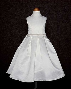 Classic Box Pleated Quality Bridal Satin Skirt