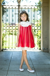 Flower Girl Dresses #KD284R : Silk Chiffon Dress
