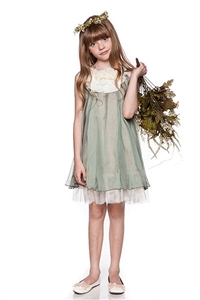 Flower Girl Dresses #KD284S : Silk Chiffon Dress