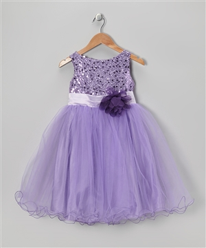 #KD305N lavender : Sequin Girl Party Dress