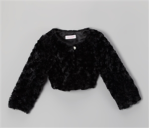 #KD330B : Cuddle Fur Bolero Jacket