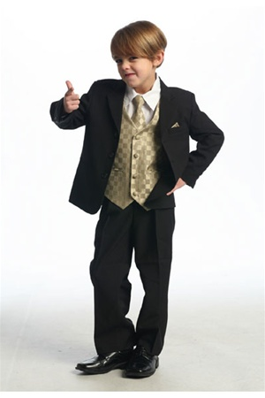 # KD5006G : Boys Formal Suit with Vest and Tie