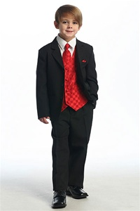 # KD5006R : Boys Formal Suit with Vest and Tie