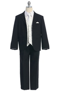 # KD5006W : Boys Formal Suit with Vest and Tie