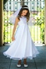 Flower Girl Dresses #KD8031W : Pearl and Sequence-Beaded Bodice with Organza Dress