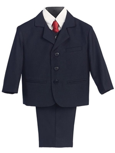 #LT3710N Boys Formal Suit with Vest and Tie