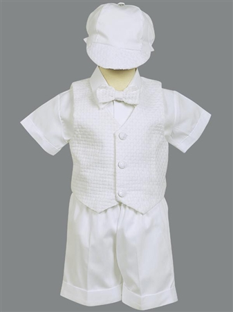 #LTDexter : Poly cotton short set with basketweave vest and hat