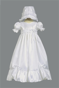 LTFarrah : Taffeta Dress w/Lace Accent Girls Christening Gown