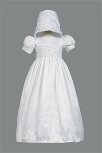 #LTIsabel : Girls Christening Laced Bodice Silk Christening Gown