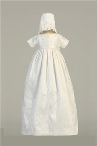 #LTJamie : Silk heirloom gown with two hats ( boy and girl )