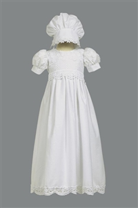 #LTKayla : Girls Christening Cotton Embroidered Christening Gown