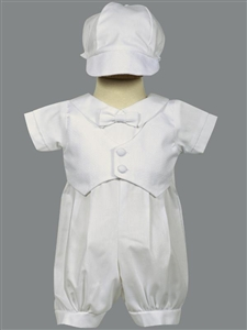#LTTyler : Short sleeve Cotton Romper w/Hat