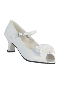"#Nancy :  1.5""  Heel w/ Pearled Satin Flowers"