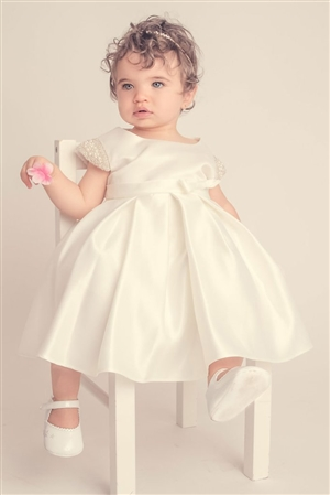 #PA201 B_iv-01 : Elsie's Baby Dress-Ivory White