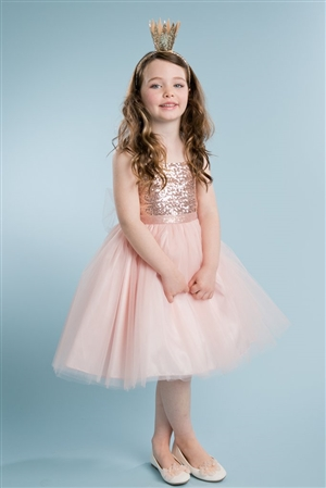 #PA216BLRD : Sequin Top dress with Tulle Skirt