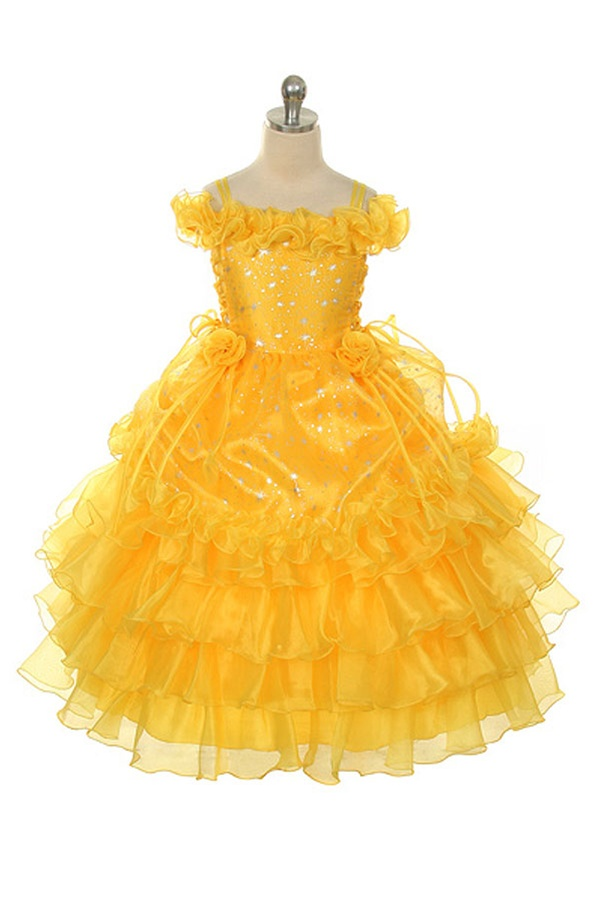 Amazing little princess foil star printed colorful organza dress ...